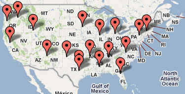 TNT CARPORTS INC DISTRIBUTION AND MANUFACTURING LOCATIONS